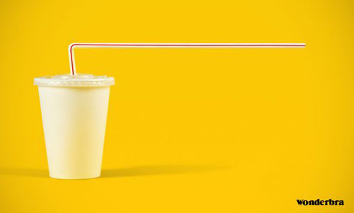 Drink straw ad creative